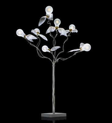 Lampe de table Birdie's Busch H 90 cm - Ingo Maurer blanc/métal en métal/tissu