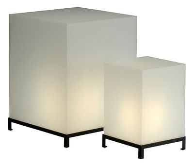 Luminaire - Lampes de table - Lampe de table Star Cube - Zeus - Blanc - H 47 cm - Acier, Résine acrylique