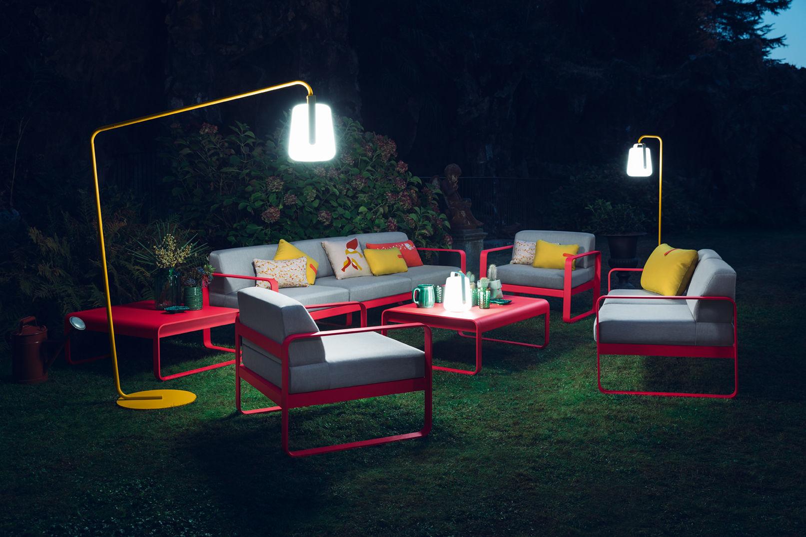 lampe ohne kabel balad led von fermob gelb made in design. Black Bedroom Furniture Sets. Home Design Ideas