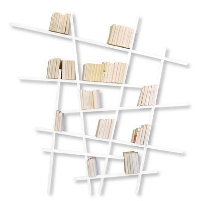 Arredamento - Scaffali e librerie - Libreria Mikado Large - colorata - Modello grande di Compagnie - Bianco - Faggio laccato