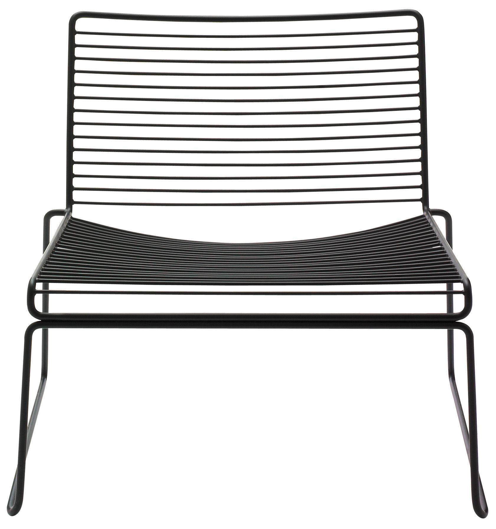 Möbel - Lounge Sessel - Hee Lounge Sessel Clubsessel - Hay - Schwarz - lackierter Stahl