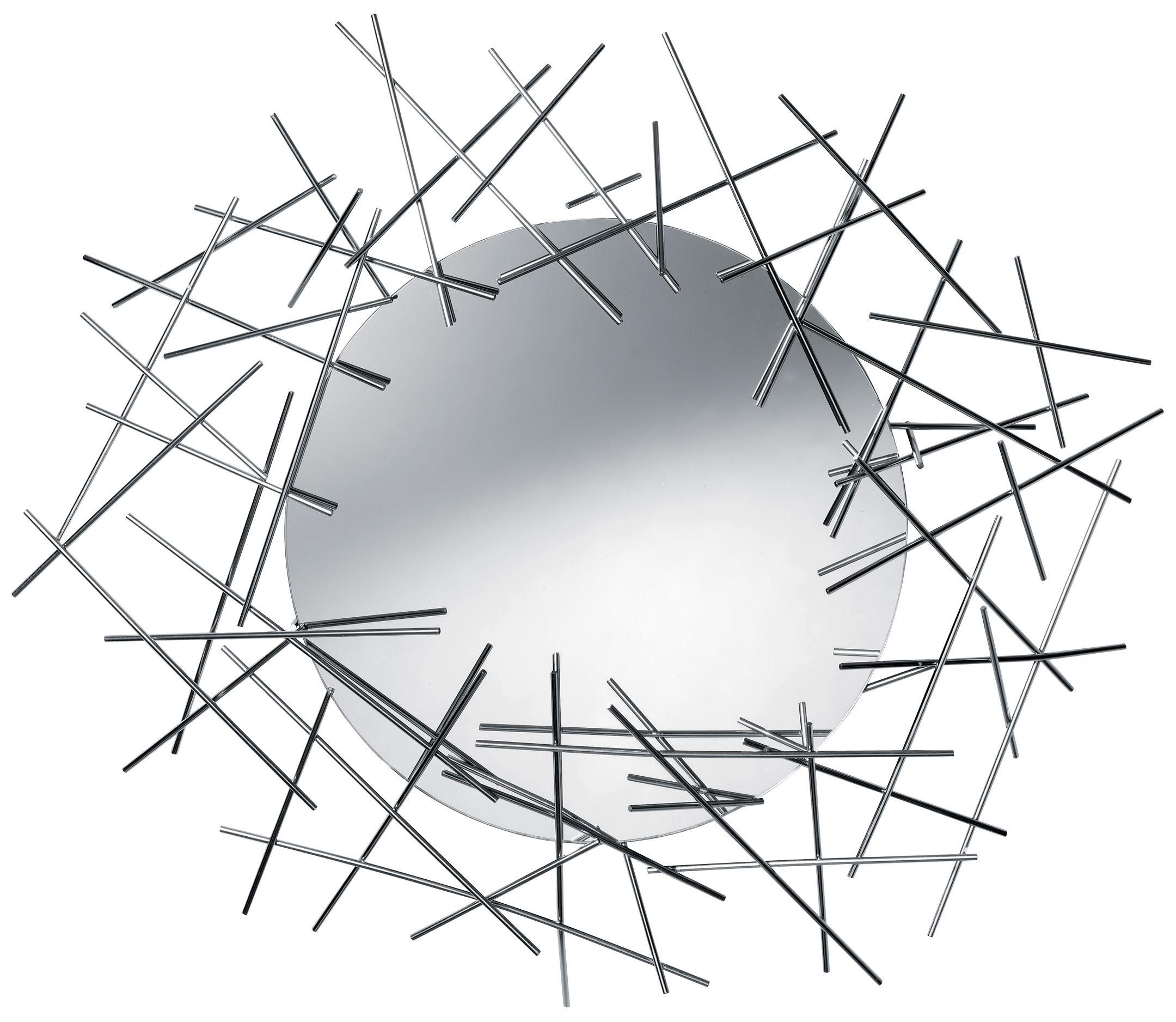 Mobilier - Miroirs - Miroir mural Blow up / L 86 x H 74 cm - Alessi - Acier - Miroir - Acier inoxydable