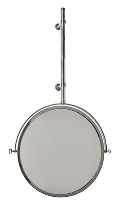 Déco - Miroirs - Miroir mural MbE / Orientable - Ø 44 cm - DCW éditions - Nickel poli - Nickel poli, Verre