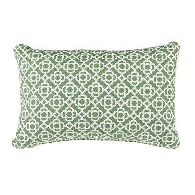 Decoration - Cushions & Poufs - Lorette Outdoor cushion - / 68 x 44 cm by Fermob - Sage green - Acrylic fabric, Foam