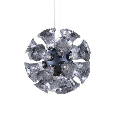 Chalice 24 Pendelleuchte / Glaskelche - Ø 48 cm - Moooi - Silber,Transparent,Gris métallique