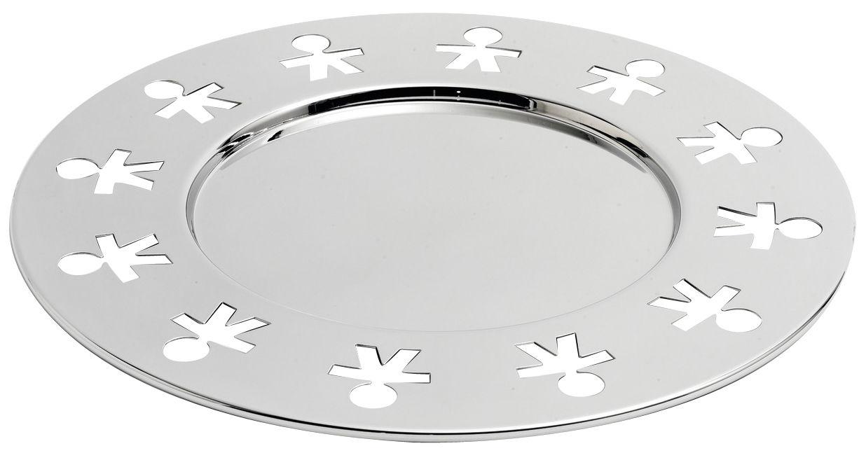 Arts de la table - Plateaux - Plateau Girotondo / Ø 40 cm - A di Alessi - Poli brillant - Acier inoxydable