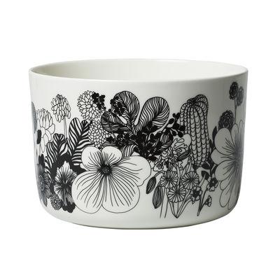 Tableware - Bowls - Siirtolapuutarha Salad bowl - /3.4L - Ø 21 x H 14.5 cm by Marimekko - Siirtolapuutarha / Black & white - Sandstone