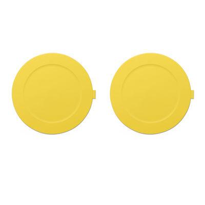 Set de table Place-we-met / Set de 2 - Silicone souple - Fatboy jaune citron en matière plastique