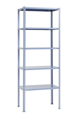 Furniture - Bookcases & Bookshelves - Shelving Unit Shelf - / L 75 x H 200 cm - Metal by Hay - Blue - Epoxy lacquered steel