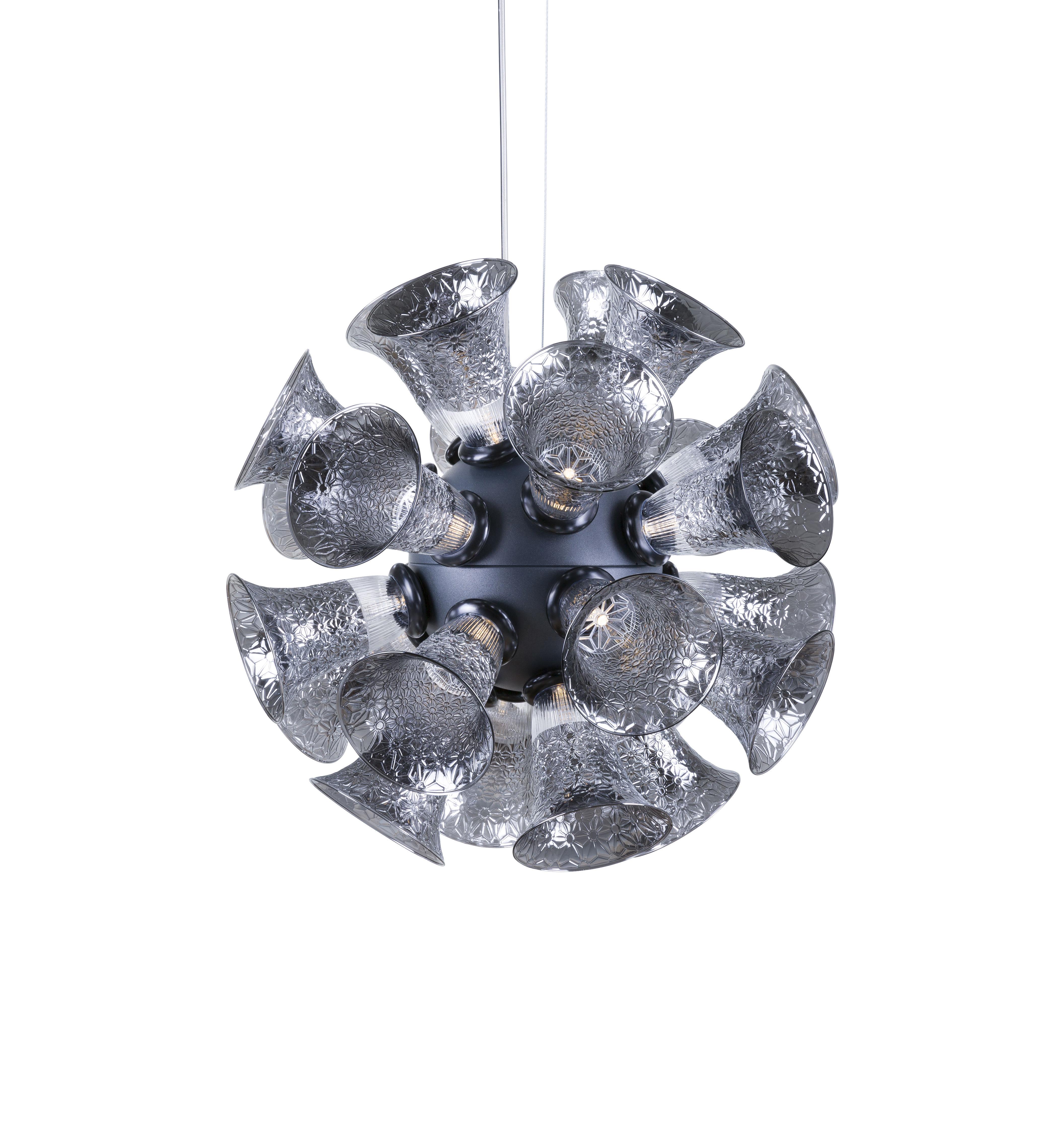 Illuminazione - Lampadari - Sospensione Chalice 24 - / Calici in vetro - Ø 48 cm di Moooi - Argentato - Bachelite, Metallo cromato, Vetro