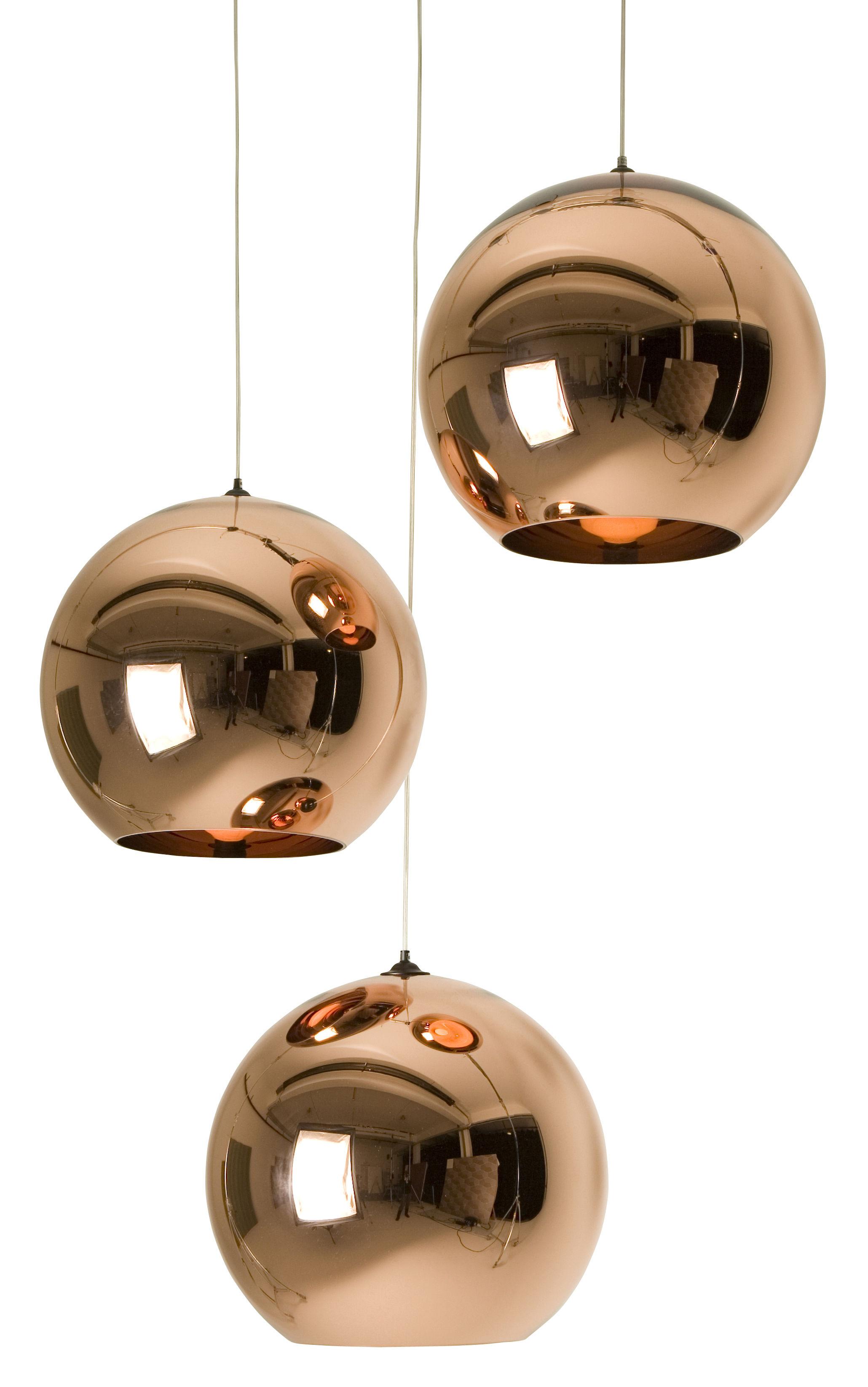 Illuminazione - Lampadari - Sospensione Copper Round di Tom Dixon - Rame - policarbonato