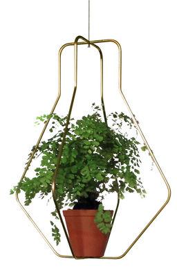 Jardin - Pots et plantes - Support pour pot de fleurs Daniel n°3 / Outdoor - Ø 40 x H 52 cm - Compagnie - Or - Acier