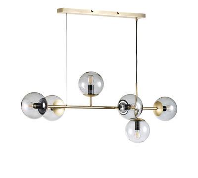 Suspension Orb / Horizontale - L 114 x H 42 cm - Bolia transparent,laiton en métal