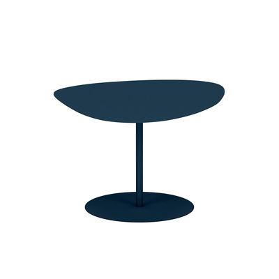 Table basse Galet n°2 OUTDOOR / 58 x 75 x H 39 cm - Matière Grise bleu en métal