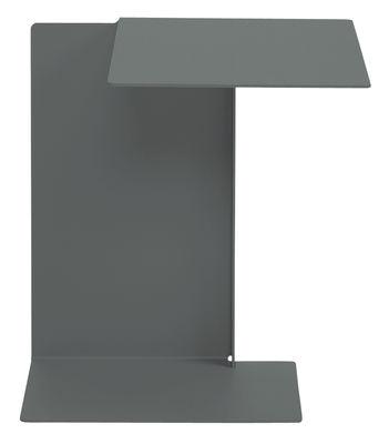 Table d'appoint Diana B / Plateau à droite - ClassiCon gris basalt en métal