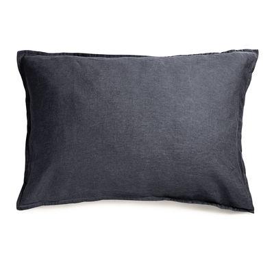Taie d'oreiller 50 x 70 cm / Lin lavé - Au Printemps Paris gris en tissu