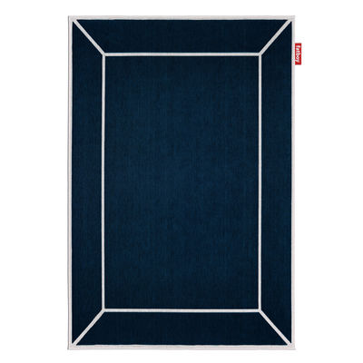 Déco - Tapis - Tapis d'extérieur Carpretty Frame / 200 x 290 cm - Polypropylène tissé - Fatboy - Bleu - Polypropylène tissé