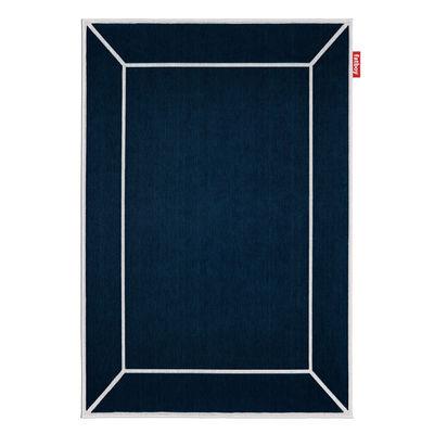 Tapis d'extérieur Carpretty Frame / 200 x 290 cm - Polypropylène tissé - Fatboy bleu en matière plastique/tissu