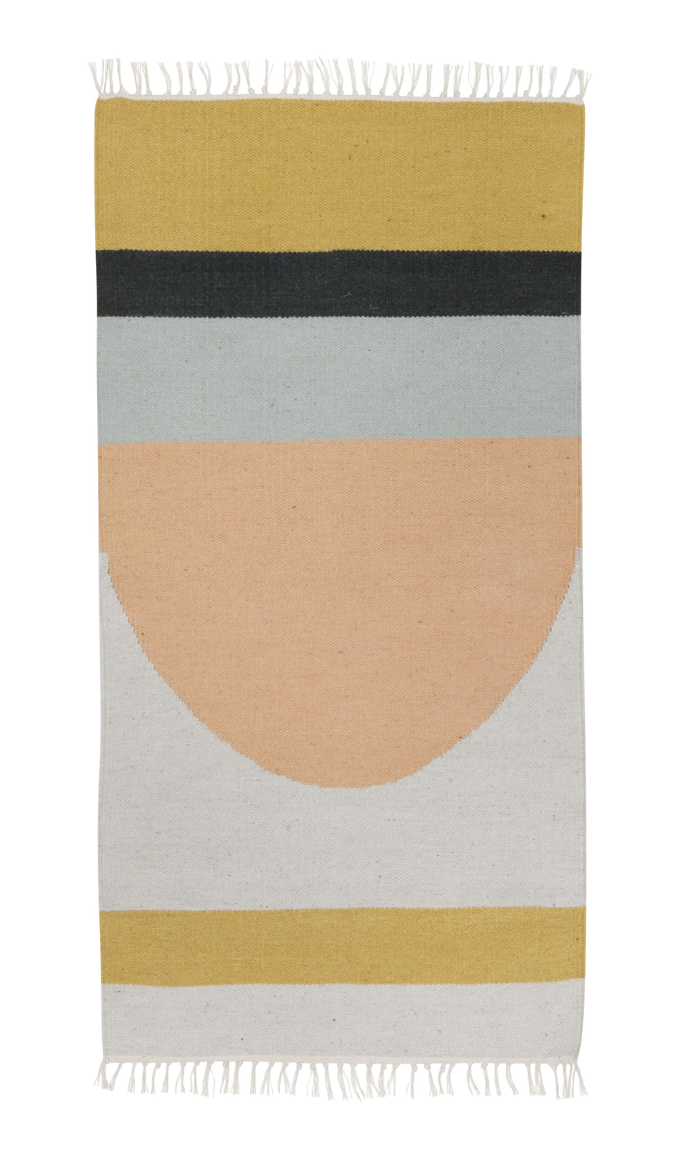 Interni - Tappeti - Tappeto Kelim Semi Circle - / 140 x 80 cm di Ferm Living - Cerchi / Multicolore - Cotone, Lana