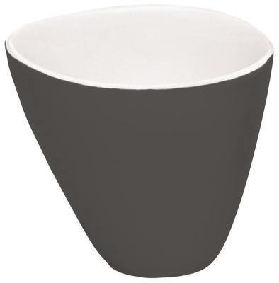 Arts de la table - Tasses et mugs - Tasse à thé Bazelaire / Fait main - Sentou Edition - Gris foncé - Faïence émaillée
