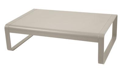 Arredamento - Tavolini  - Tavolino basso Bellevie / L 103 cm - Fermob - Noce moscata - Alluminio laccato