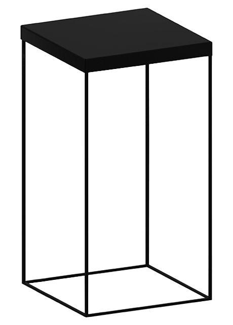 Arredamento - Tavolini  - Tavolino rotondo Slim Up - Nero ramato - Acciaio verniciato