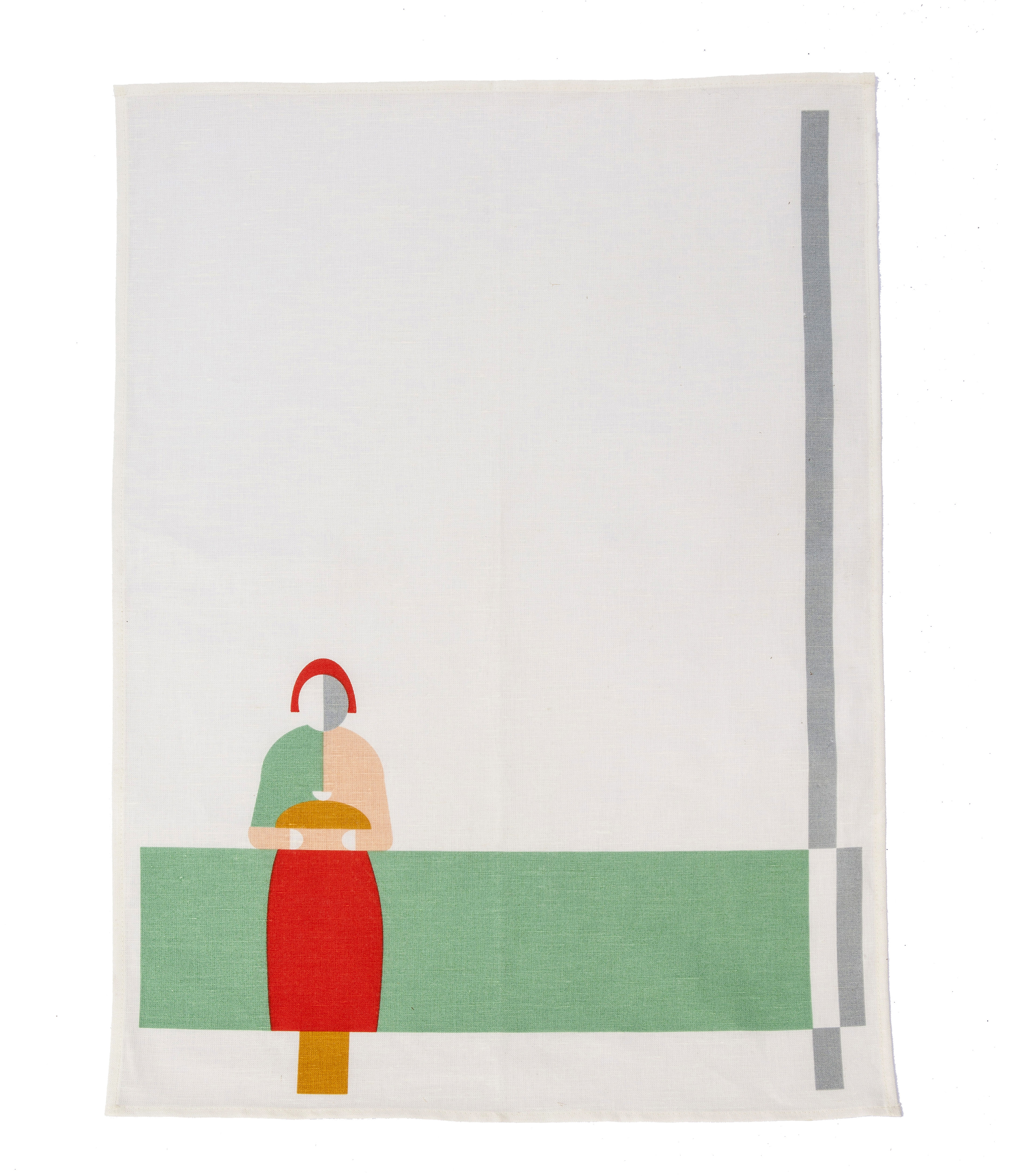 Kitchenware - Tea Towels & Aprons - Bread & Salt Tea towel - 70 x 47 cm by studio ROOF - White / Multicolored - Cotton, Linen
