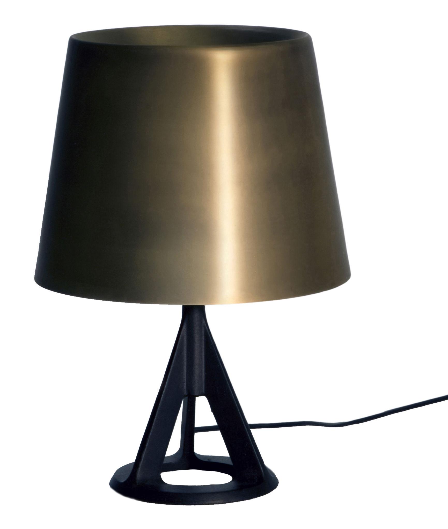Leuchten - Tischleuchten - Base Tischleuchte - Tom Dixon - Gold / Schwarz - gebürstetes Messing, Gusseisen