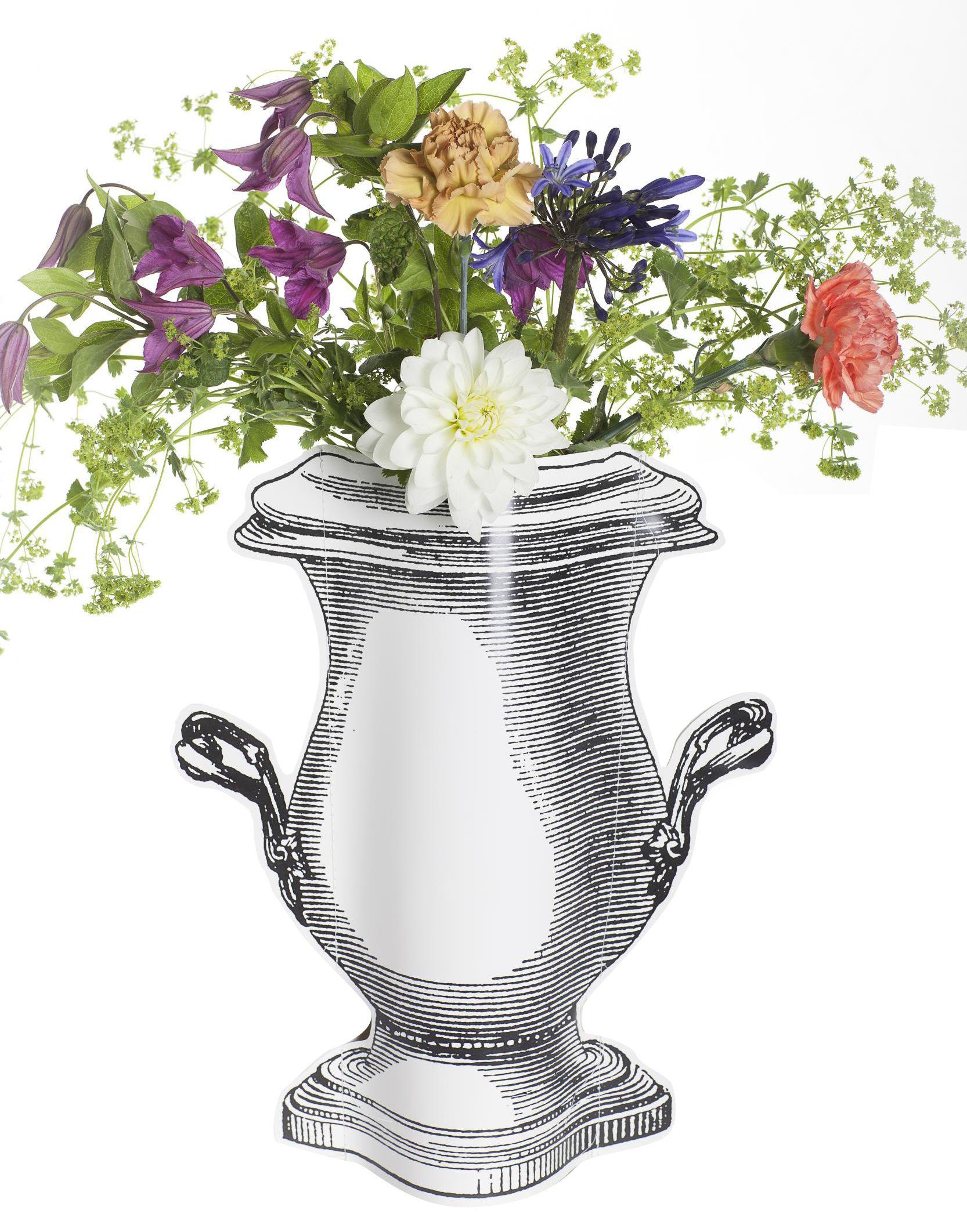 bertopf paper vase von serax schwarz wei h 32 5 x 29 5 made in design. Black Bedroom Furniture Sets. Home Design Ideas