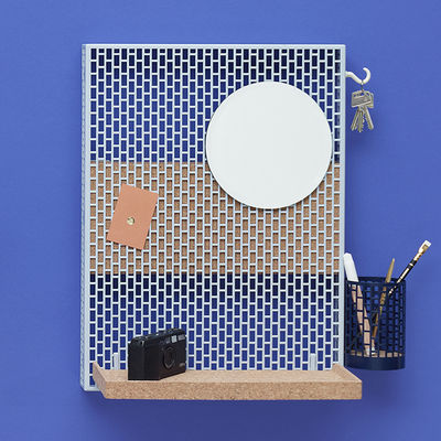 Furniture - Shelves & Storage Furniture - Pinorama S Wall storage by Hay - Light Blue - Cork, Painted steel