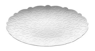 Arts de la table - Plateaux - Assiette de présentation Dressed for X-mas / Ø 26 cm - Porcelaine - Alessi - Porcelaine blanche - Acier peint