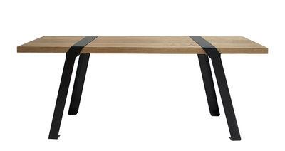 Banc Pi / L 120 cm - Bois - Moaroom noir/bois naturel en bois