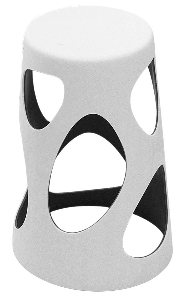 Möbel - Barhocker - Liberty Barhocker / H 64 cm - aus Kunststoff - MyYour - Außen weiß / Innenseite schwarz - Poleasy