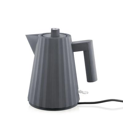Tavola - Caffè - Bollitore elettrico Plissé - / 1 L di Alessi - Grigio scuro - Resina termoplastica
