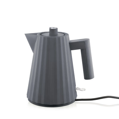 Arts de la table - Thé et café - Bouilloire électrique Plissé / 1 L - Alessi - Gris foncé - Résine thermoplastique