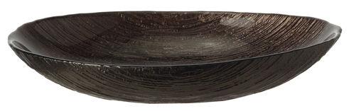 Tableware - Serving Plates - Como Large Bowl by Leonardo - L 27 cm / Bronze - Glass