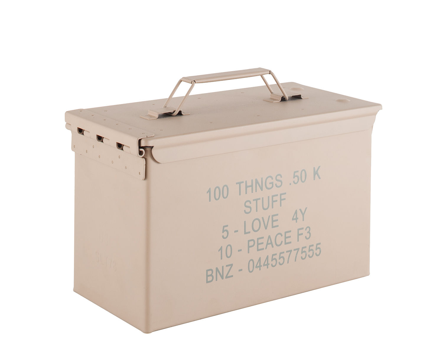 Decoration - Decorative Boxes - Peace Bullet Box - / Metal - L 30 x H 19 cm by Diesel living with Seletti - Pastel pink - Tinted metal