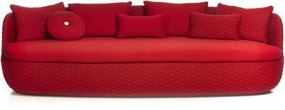 Mobilier - Canapés - Canapé droit Bart / L 235 cm - Assise profonde - Tissu - Moooi - Rouge passion - Bois, Mousse, Tissu