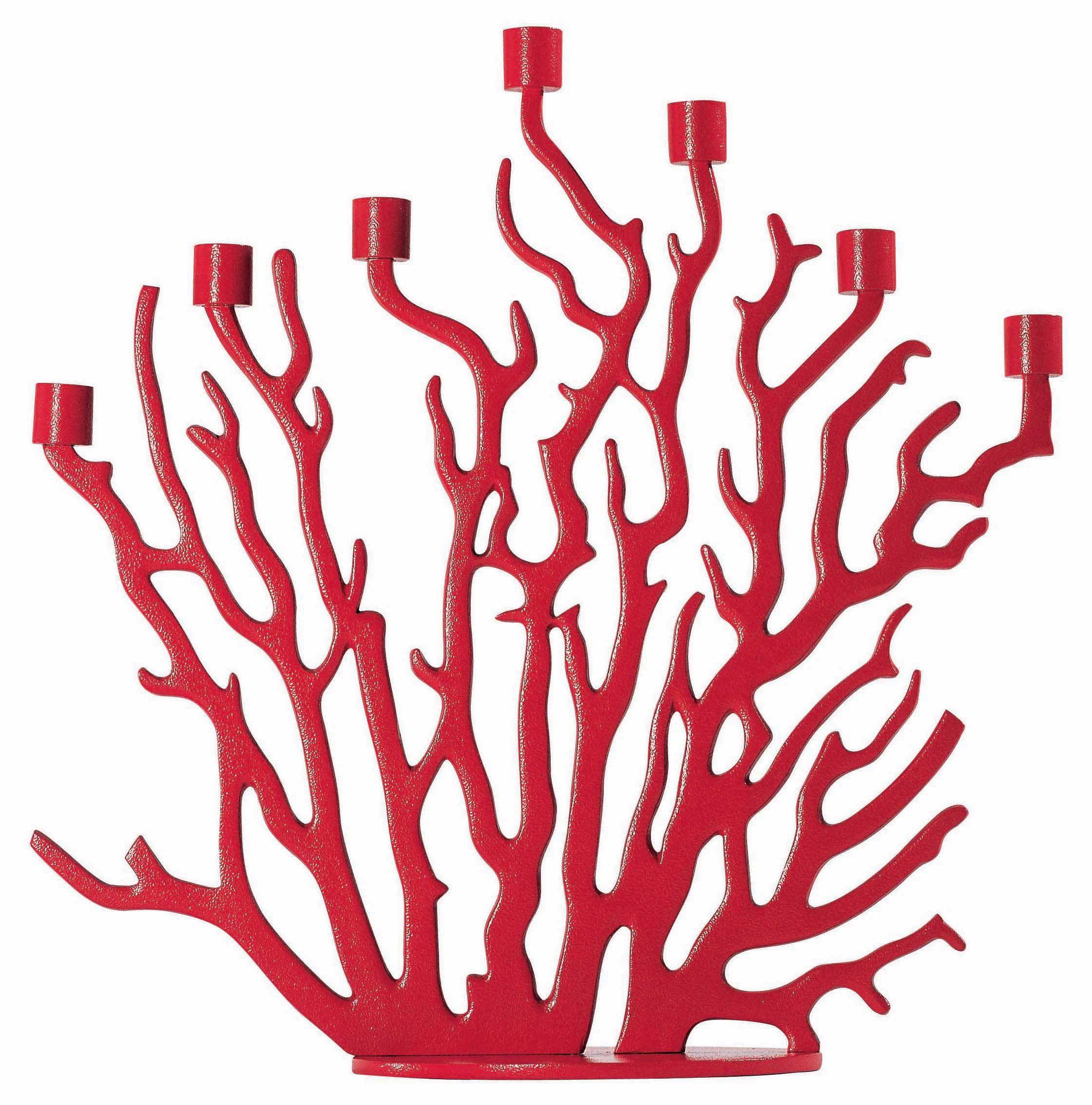 Interni - Insoliti e divertenti - Candeliere Tenochtitlan di Driade Kosmo - Rosso - Ghisa di alluminio
