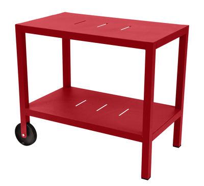 Arredamento - Complementi d'arredo - Carrello - tavolo d'appoggio Quiberon / Supporto per plancha - Fermob - Papavero - Acciaio, Alluminio