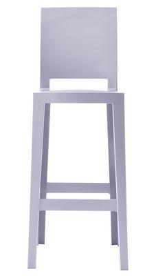 Chaise de bar One more please / H 75cm - Plastique - Kartell bleu lavande en matière plastique