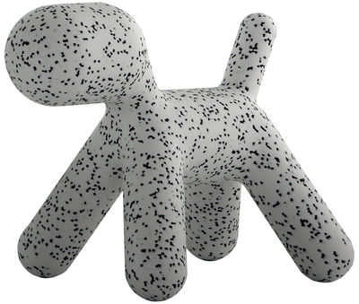 Furniture - Kids Furniture - Puppy XL Children's chair - / Extra Large - L 102 cm by Magis Collection Me Too - White / Black mottled - roto-moulded polyhene