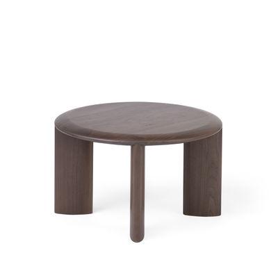 Furniture - Coffee Tables - IO End table - / Ø 60 cm - Walnut by Ercol - Walnut - Solid walnut