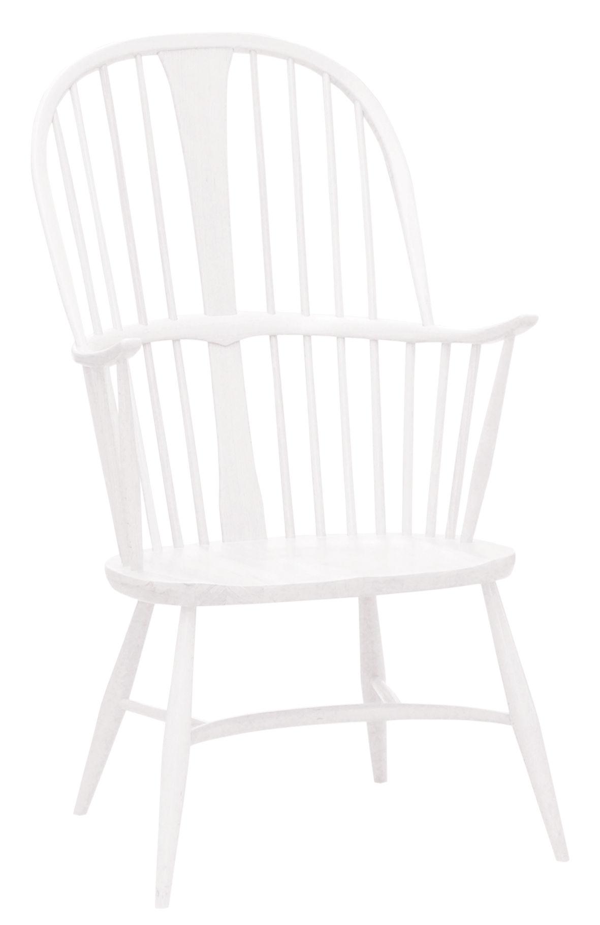 Mobilier - Fauteuils - Fauteuil Originals Chairmaker / Bois - Réédition 1950' - Ercol - Blanc - Hêtre massif peint, Orme massif peint