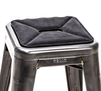 Decoration - Cushions & Poufs - Flat seat cushion by Tolix - Anthracite - Fabric