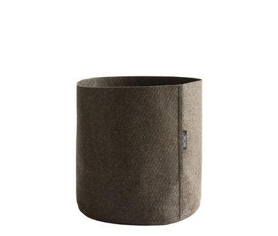 Outdoor - Pots & Plants - Humus Feutre Flowerpot - 10 L by Bacsac - 10 L / Brown - Geotextile felt