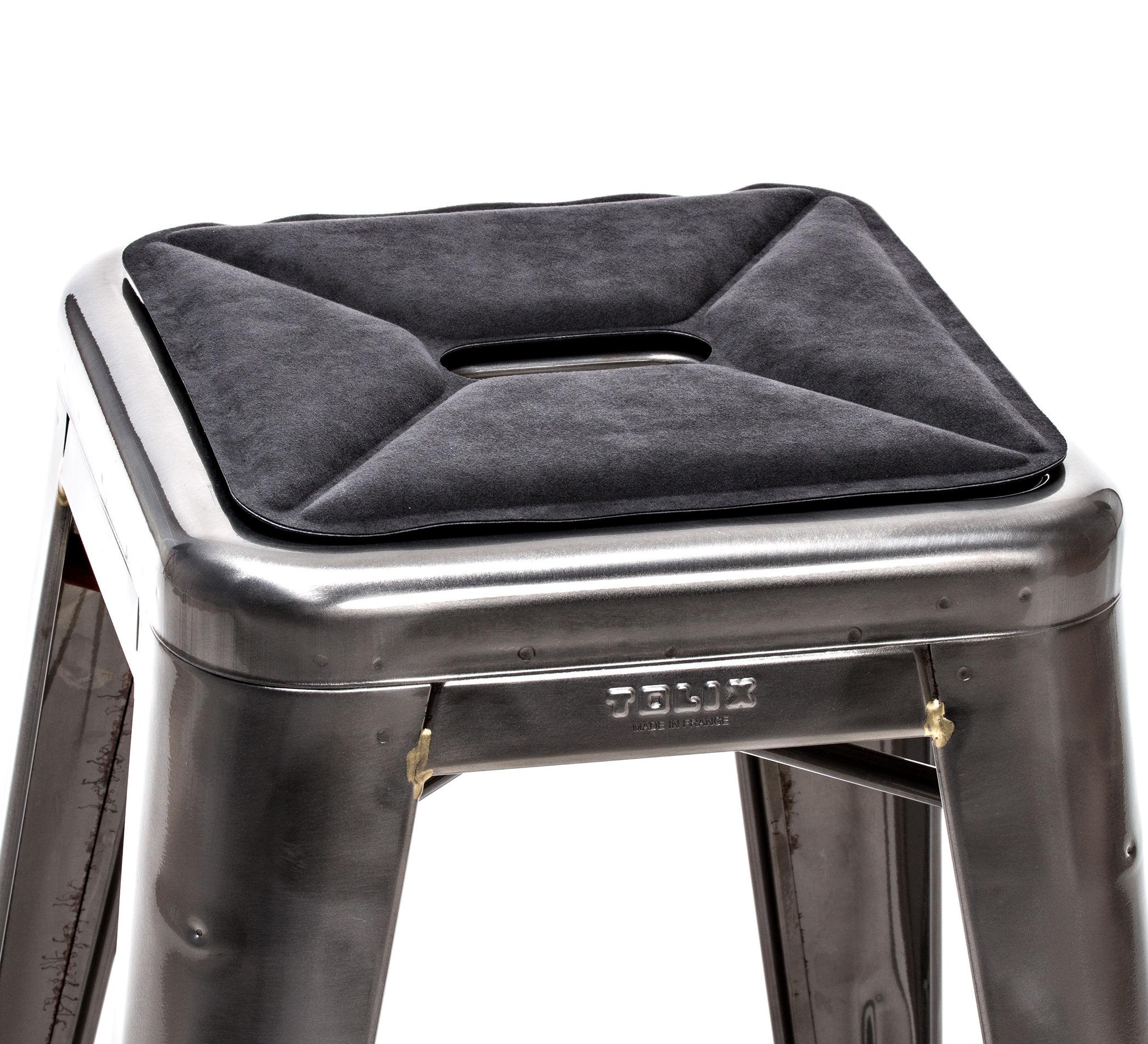 Déco - Coussins - Galette d'assise / Tissu - Pour tabourets - Tolix - Tissu / Anthracite - Tissu