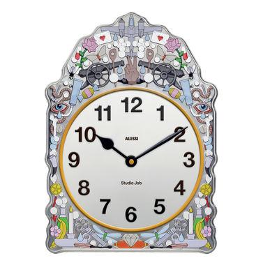 Déco - Horloges  - Horloge murale Comtoise / L 23 x H 30 cm - Alessi - Multicolore - Acier