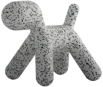 Möbel - Möbel für Kinder - Puppy XL Kinderstuhl / Extra Large - L 102 cm - Magis Collection Me Too - Weiß / mit schwarzen Flecken - rotationsgeformtes Polyäthylen