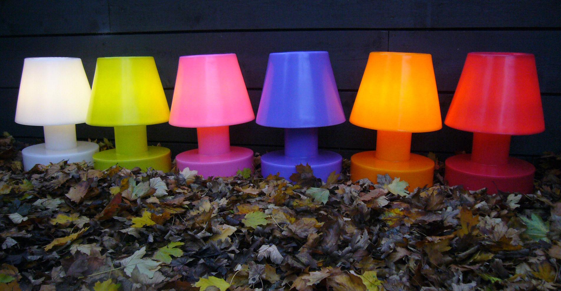 Lampada senza fili bloom bianco h Ø made in design